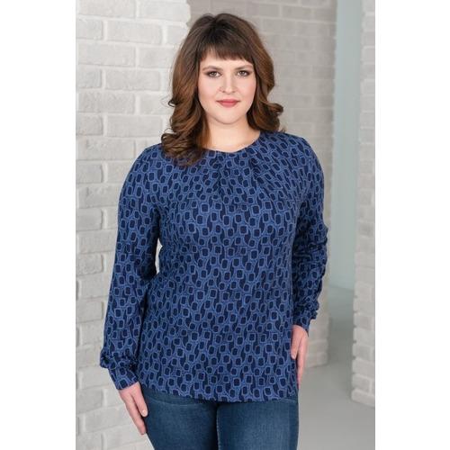 Блуза 0143-50 цвет Темный индиго р 48 фото 1