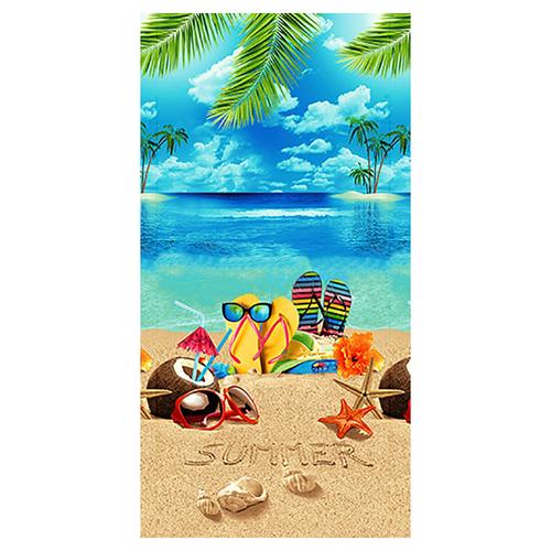 Полотенце вафельное пляжное 10992/1 Отпуск 150/75 см фото 1