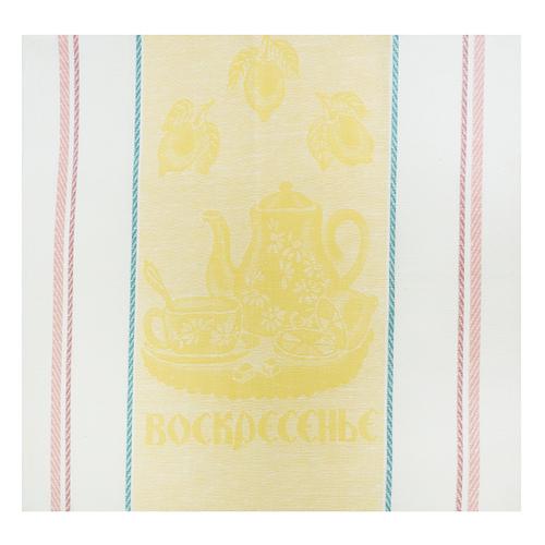 Полотенце лен 170гр/м2 Воскресенье цвет желтый 50/50 уценка фото 1