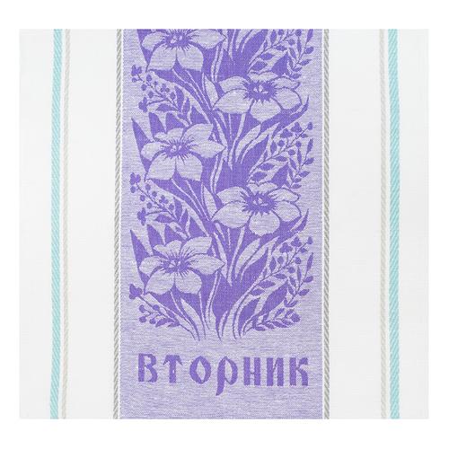 Полотенце лен 170гр/м2 Вторник цвет фиолетовый 50/50 уценка фото 1