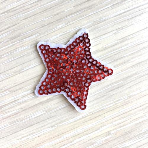 Термоаппликация ТАП В5 звезда, цвет красный 3,5*3,5см фото 1