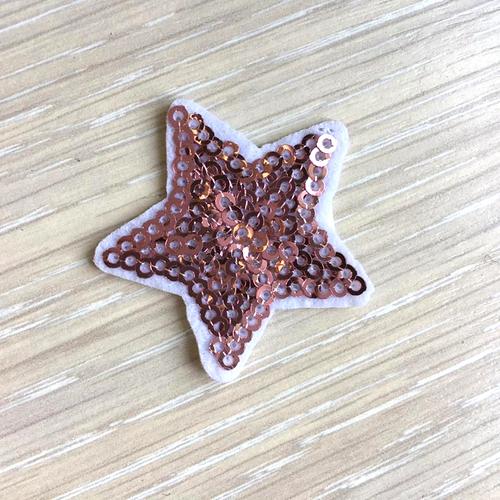 Термоаппликация ТАП В5 звезда, цвет нуд 3,5*3,5см фото 1
