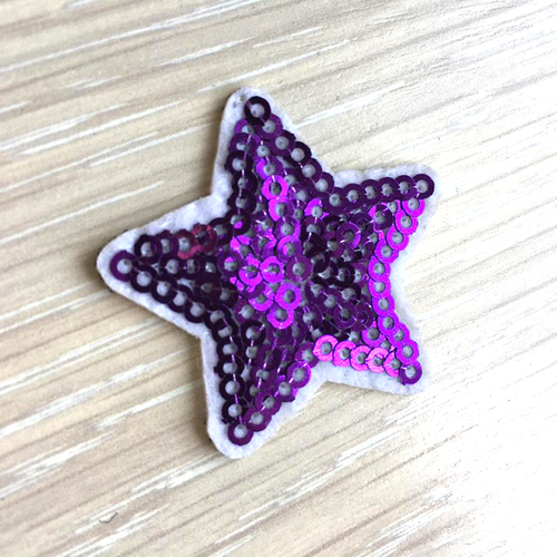 Термоаппликация ТАП В5 звезда, цвет фиолетовый 3,5*3,5см фото 1