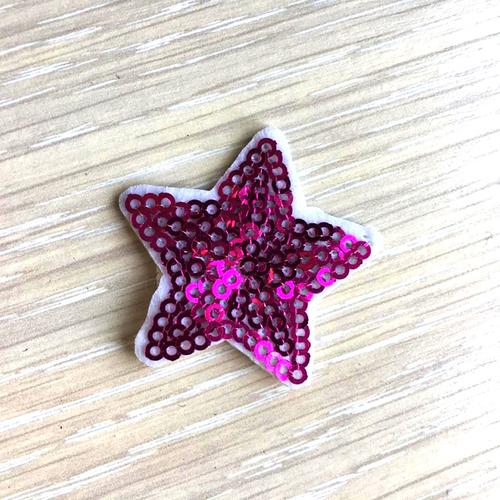 Термоаппликация ТАП В5 звезда, цвет фуксия 3,5*3,5см фото 1