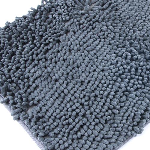 Коврик для ванной Makaron 40/60 цвет серый фото 1