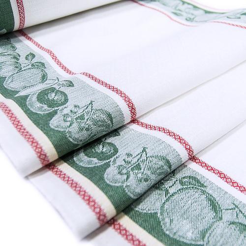 Полотенце полулен 3 шт 50/70 см Жаккард цвет зеленый фото 1