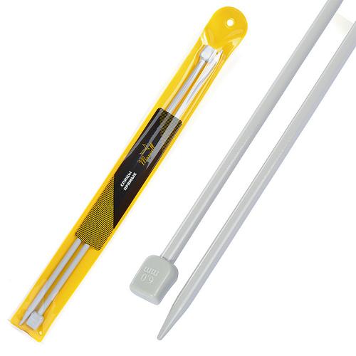 Спицы для вязания прямые Maxwell Gold Тефлон 6552 6,0 мм 35 см 2 шт фото 1