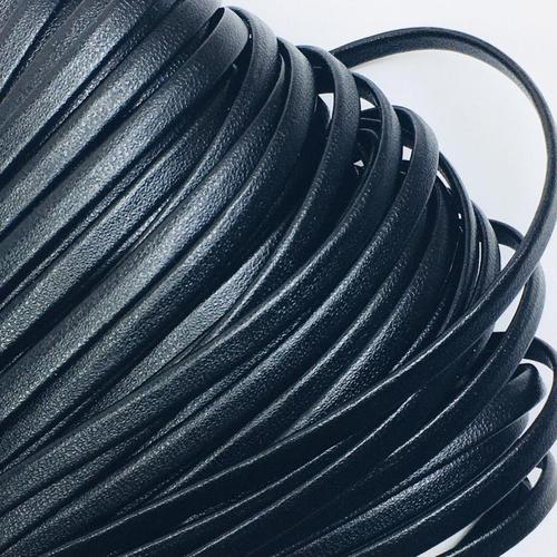 Шнур декоративный кожзам 4 мм 2147 черный фото 1