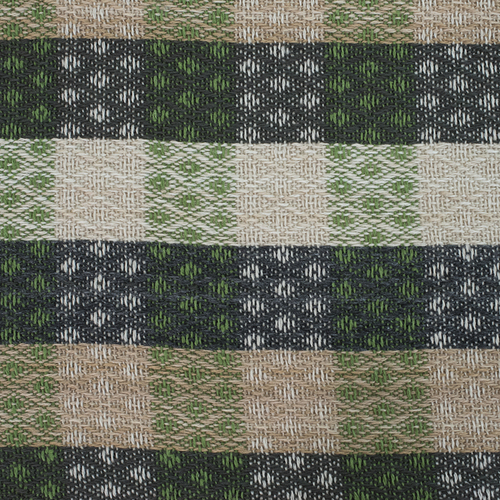 Плед Кресты 100% ПАН 500 гр цвет зеленый 150/210 см фото 3