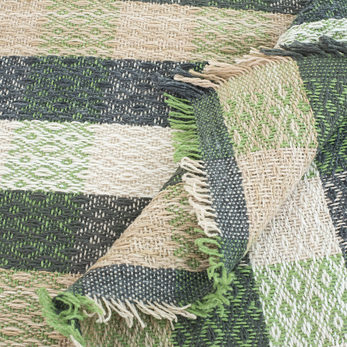 Плед Ромбы 100% ПАН 500 гр цвет зеленый 150/210 см фото 3