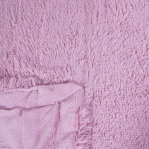 Покрывало-плед шиншилла 220/240 цвет розовый фото 2