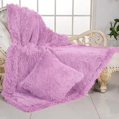 Покрывало-плед шиншилла 220/240 цвет розовый фото 1