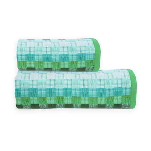Полотенце махровое Sunvim 18-17 Мозаика 65/135 см цвет зеленый фото 1
