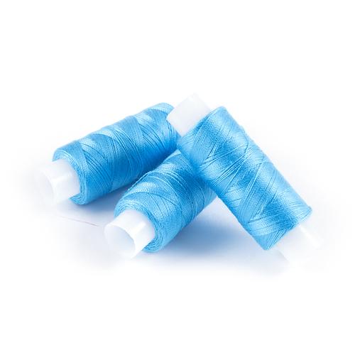 Нитки армированные 45ЛЛ цв.2506 голубой 200м, С-Пб фото 1
