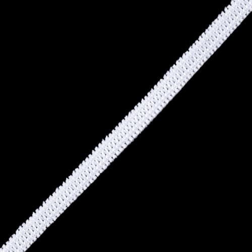 Резинка плоская вязаная 4 мм белая 1 метр фото 1