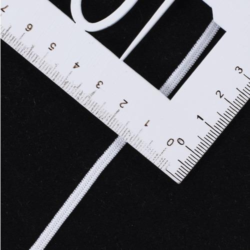 Резинка плоская вязаная 4 мм белая 1 метр фото 2