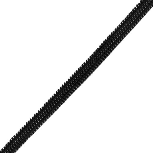 Резинка плоская вязаная 4 мм черная 1 метр фото 1