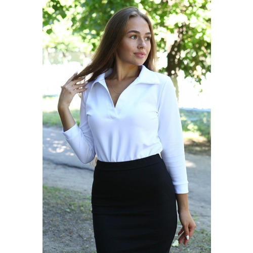 Блузка Миранда белая В310 р 54 фото 1