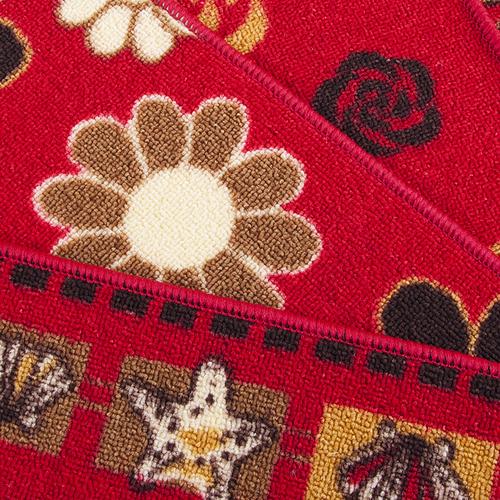 Коврик для ванной 45/75 200 цвет красный фото 3