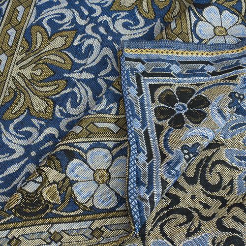 Покрывало гобелен Ромашка синий 147/210 фото 4