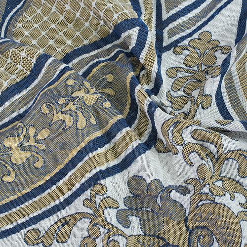 Покрывало гобелен Эльвира синий 147/210 фото 4