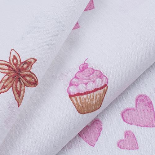 Ткань на отрез бязь 120 гр/м2 детская 150 см 9507 Зайчата цвет розовый (комп.) фото 3