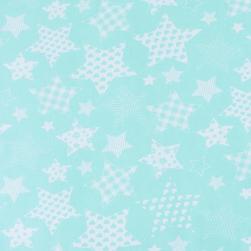 Мерный лоскут бязь плательная 1683/16 цвет мята фото 1