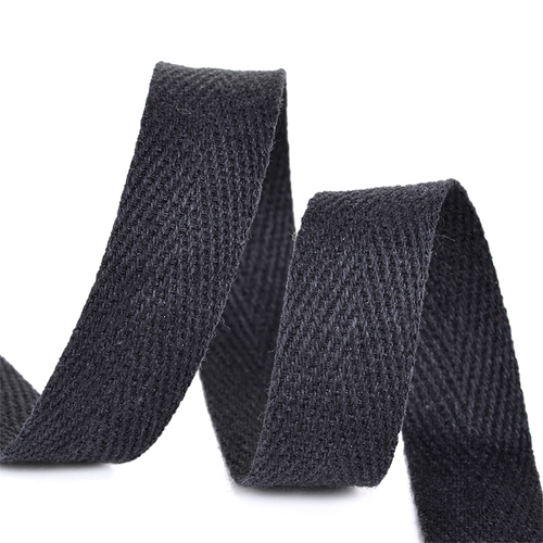 Лента киперная 15 мм хлопок 2.5 гр/см цвет F322 черный фото 1