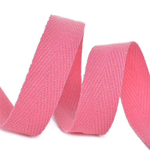 Лента киперная 10 мм хлопок 2.5 гр/см цвет F137 розовый фото 1