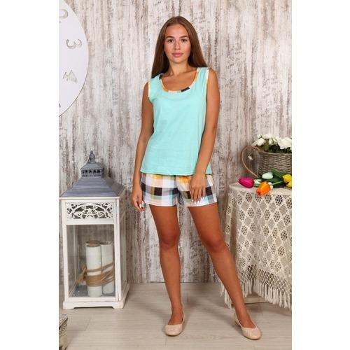 Пижама Шорты «Аня» Мятная Б23 р 50 фото 1