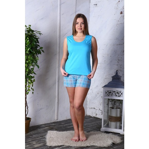 Пижама Шорты «Аня» Голубая Б23 р 50 фото 1