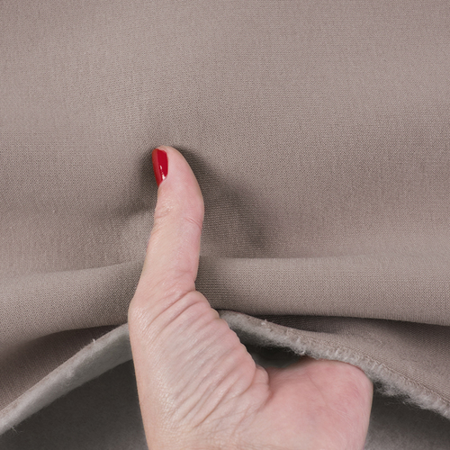 Ткань на отрез футер 3-х нитка компакт пенье начес цвет светло-коричневый фото 4