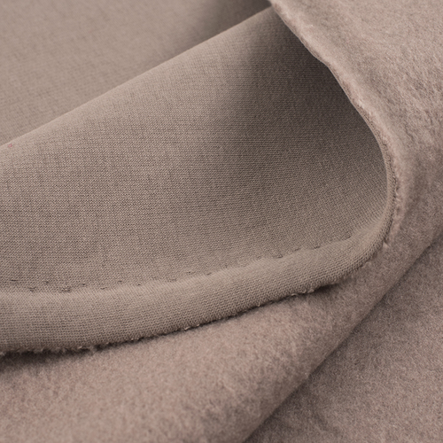 Ткань на отрез футер 3-х нитка компакт пенье начес цвет светло-коричневый фото 5