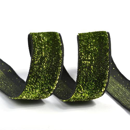 Лента Бархотка с3549 рис.8379 шир. 20мм цв.03 зеленый/черный уп.10 м фото 1