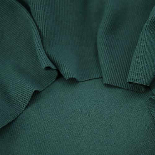 Ткань на отрез кашкорсе с лайкрой цвет темно-зеленый фото 2