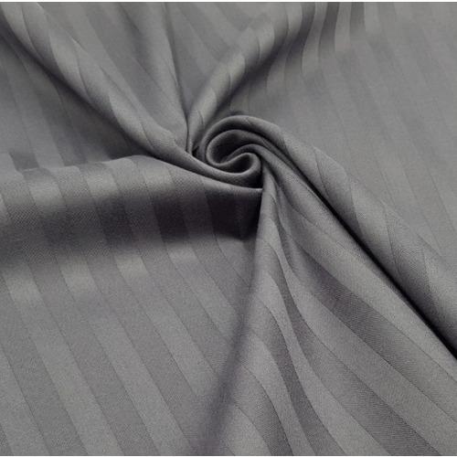 Ткань на отрез страйп сатин полоса 1х1 см 220 см 120 гр/м2 цвет 960/2 серый фото 1