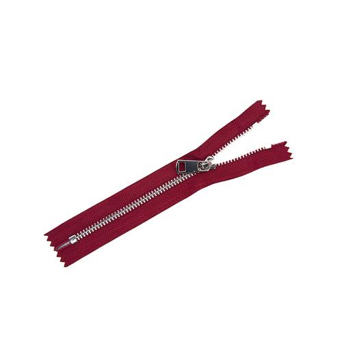 Молния металл №5ТТ никель н/р 18см D520 красный чили фото 1