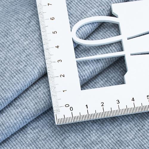 Ткань на отрез кашкорсе 3-х нитка с лайкрой 4985-1 цвет серый меланж фото 3