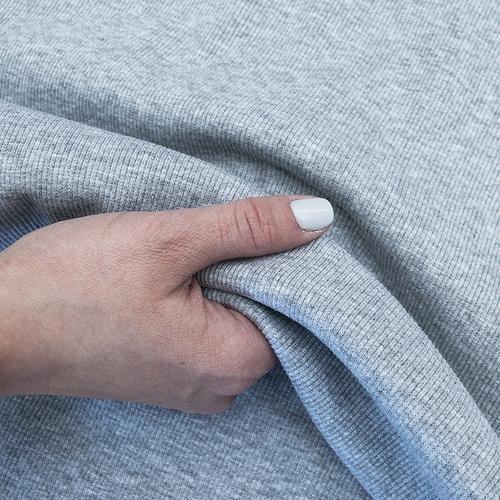 Ткань на отрез кашкорсе 3-х нитка с лайкрой 4985-1 цвет серый меланж фото 2