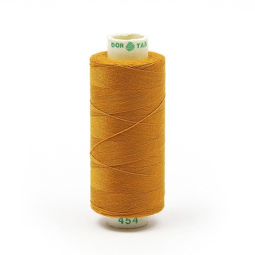 Нитки бытовые Dor Tak 40/2 366м 100% п/э, цв.454 рыжий фото 1