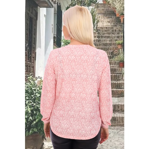 Блуза 6851 розовая р 48 фото 4