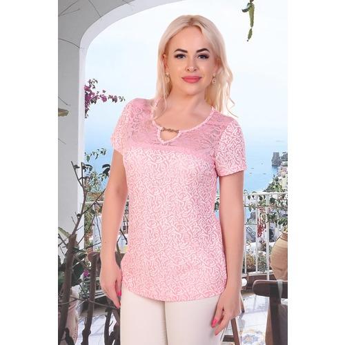 Блуза 6852 розовая р 46 фото 1