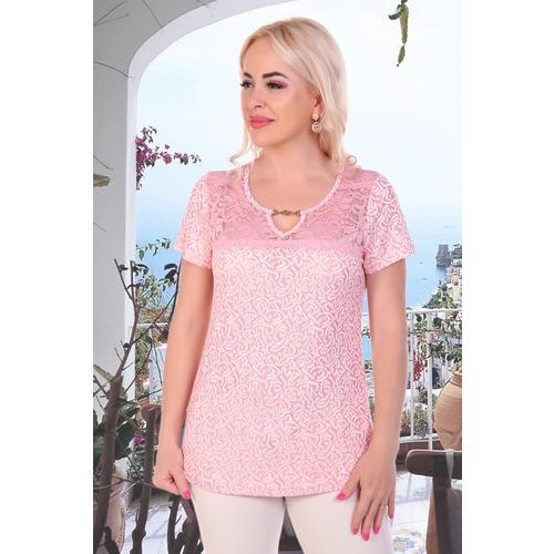 Блуза 6852 розовая р 46 фото 3