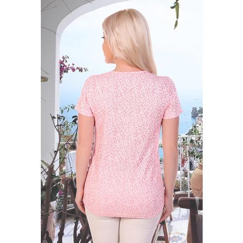 Блуза 6852 розовая р 46 фото 2