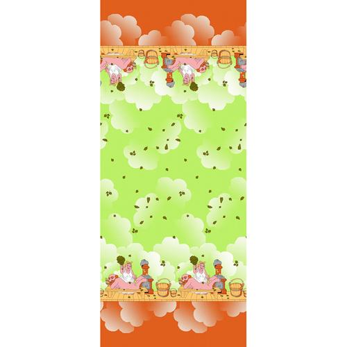 Полотенце вафельное банное 150/75 см 60/3 Баня цвет салатовый фото 1