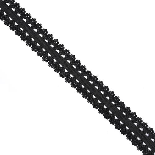 Резинка TBY бельевая 20 мм RB04322 цвет F322 черный 1 м фото 1