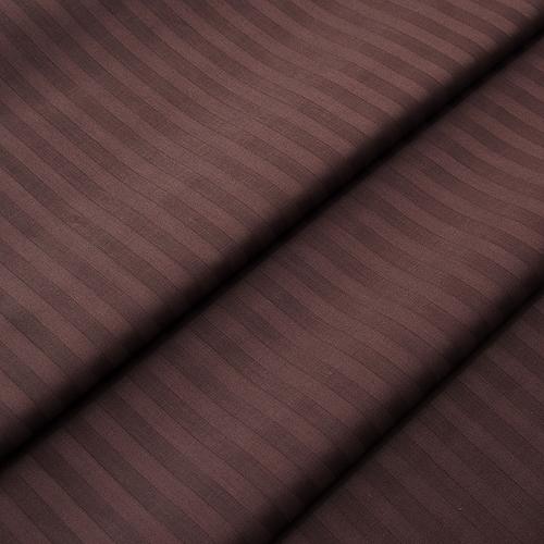 Страйп сатин полоса 1х1 см 220 см 135 гр/м2 цвет 896 шоколадный фото 1