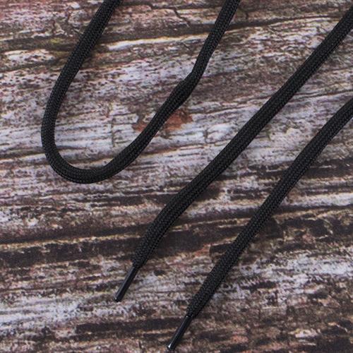 Шнурки круглые 130см черные пара уп 2 шт фото 1