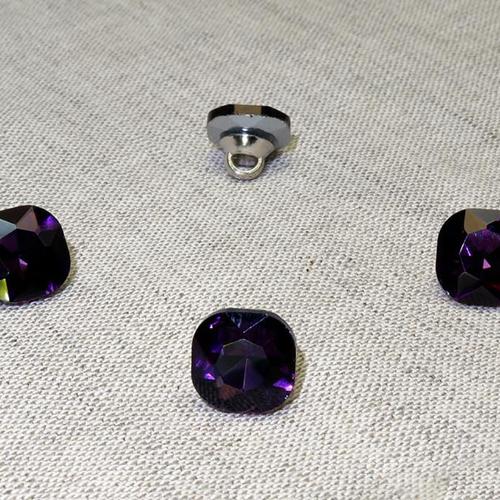 Пуговица ПР64 11мм фиолетовый камень уп 50 шт фото 1