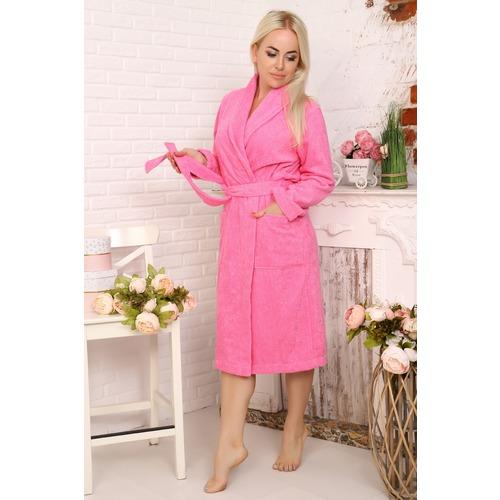 Халат Элит с воротником-шалькой женский 12941 цвет ярко-розовый р 50 фото 1